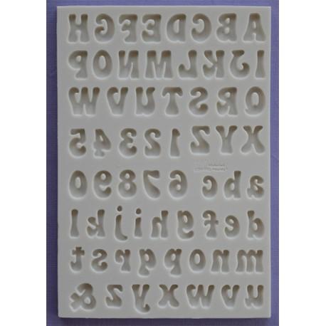 Molde Silicone Letras e Numeros ( Fun )