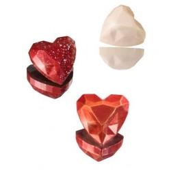Molde Policarbonato Pedra Preciosa Coração