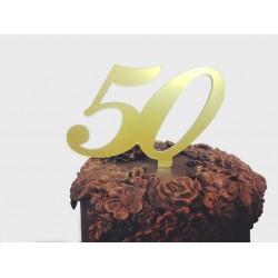 Acrílico 50 Anos Bodas Ouro