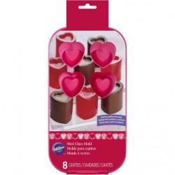 Molde Silicone Copos Coração