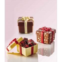 Molde Polietileno Presente Chocolate Cj.2