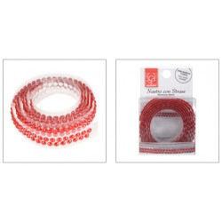Fita Adesiva Diamantes Vermelhos