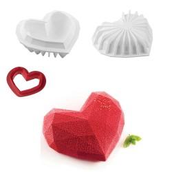 Forma Silicone Coração Origami