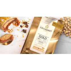 Chocolate Pastilha Gold Caramelo Callebaut 250g