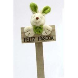 Coelho Verde Feliz Pascoa