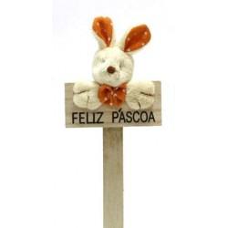 Coelho Laranja Feliz Pascoa