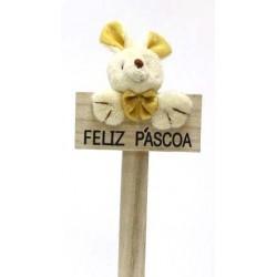 Coelho Amarelo Feliz Pascoa
