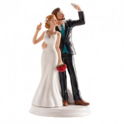 Noivos Casamento Selfie 20cm