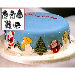 Cortantes Santa Snow Set