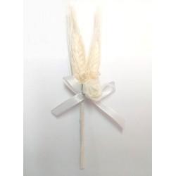 Raminhos Espiga Branco 17cm Comunhões