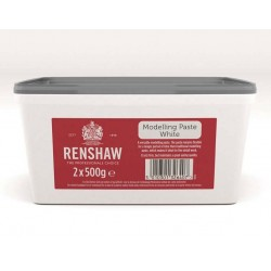 Pasta de Modelagem/Flores Branco 2x500g (1kg) Renshaw
