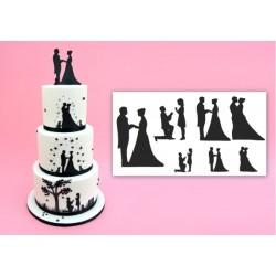 Cortantes Casamento Silhueta Cj.7