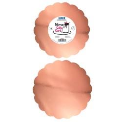 Base Espelhada Rosa Dourado 20,3cm Cj.3 Pme