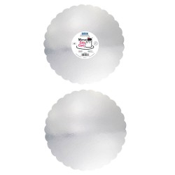 Base Espelhada Prateada 30,5cm Cj.3 Pme