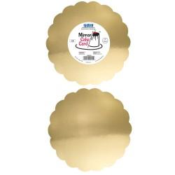 Base Espelhada Dourada 20,3cm Cj.3 Pme