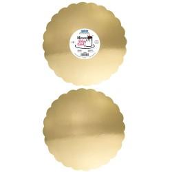 Base Espelhada Dourada 25,4cm Cj.3 Pme