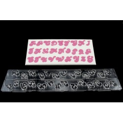 Cortante Ejector Letras Maiúsculas Candy