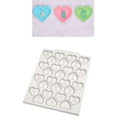 Molde Silicone Corações com Letras