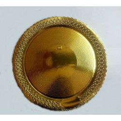 Prato Rendado Dourado 23cm