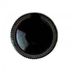 Prato Rendado Preto 23cm