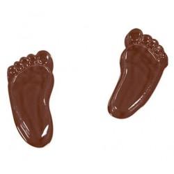 Molde Polietileno Pés Chocolate