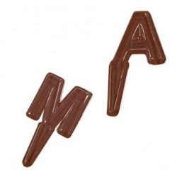 Molde Termoformado Letras Chocolate