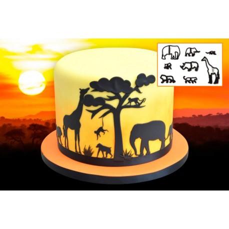 Cortantes Silhoueta Animais da Selva Safari