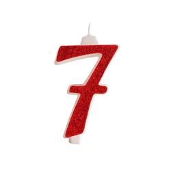 Vela Vermelha Nº7 13cm