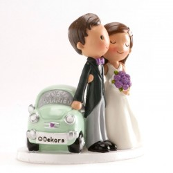 "Noivos Carro "" Just Married"" 12cm"