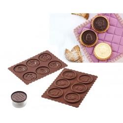 Cortante + Molde Bolacha Chocolate Pascoa