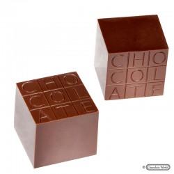 "Molde Policarbonato Bombons Cubo ""Chocolate"""