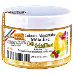 Corante Alimentar Dourado Cintilante 25g