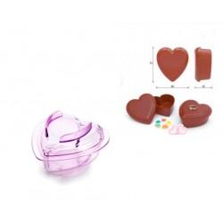 Molde Caixa Coração Chocolate