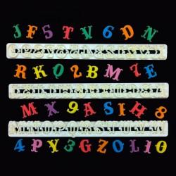 """Cortantes Alfabeto e numeros """"Carnival"""" Fmm"""
