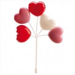 Set Balões Corações 17cm