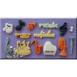 Molde Silicone Musica