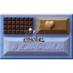 "Molde Silicone ""I Love Chocolate"""