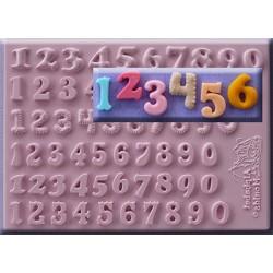 """Molde Silicone Números """"6 modelos"""""""