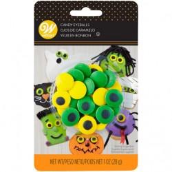 Olhos de Açúcar Amarelos/Verdes 28g
