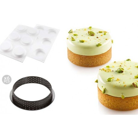 Kit Tarte Ring Klassic Ø 70 mm Silikomart