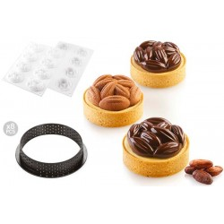 Kit Tarte Ring Cocoa Ø 70 mm Silikomart