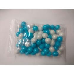 Perolas Chocolate Cocantes Azul/Perola - 100g