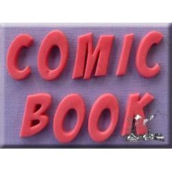 Molde Silicone Alfabeto Comic Book Font