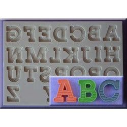 Molde Silicone Alfabeto Maiúsculas Gradient
