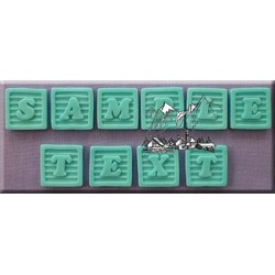 Molde Silicone Alfabeto Baby Block Font