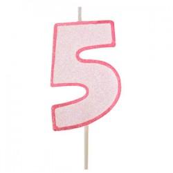 Vela cor-de-rosa