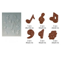 Molde Notas Musicais Chocolate