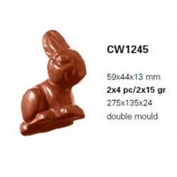 Molde Policarbonato Coelho Chocolate