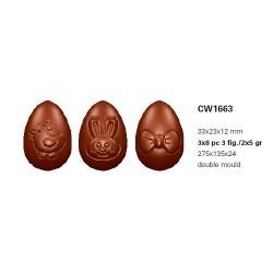 Molde Policarbonato Ovos Chocolate