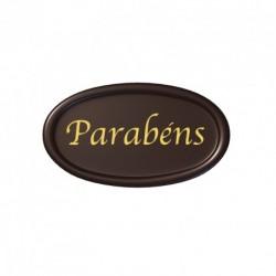 Placa Chocolate Parabéns